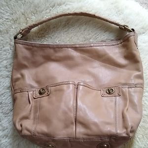 Marc Jacobs totally turnlock hobo beige leather